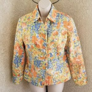 Coldwater long sleeve button down blazer jacket